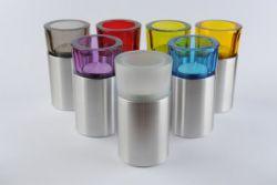Waxinelichthouder mini urn rond met glad deksel 120mm 2511}