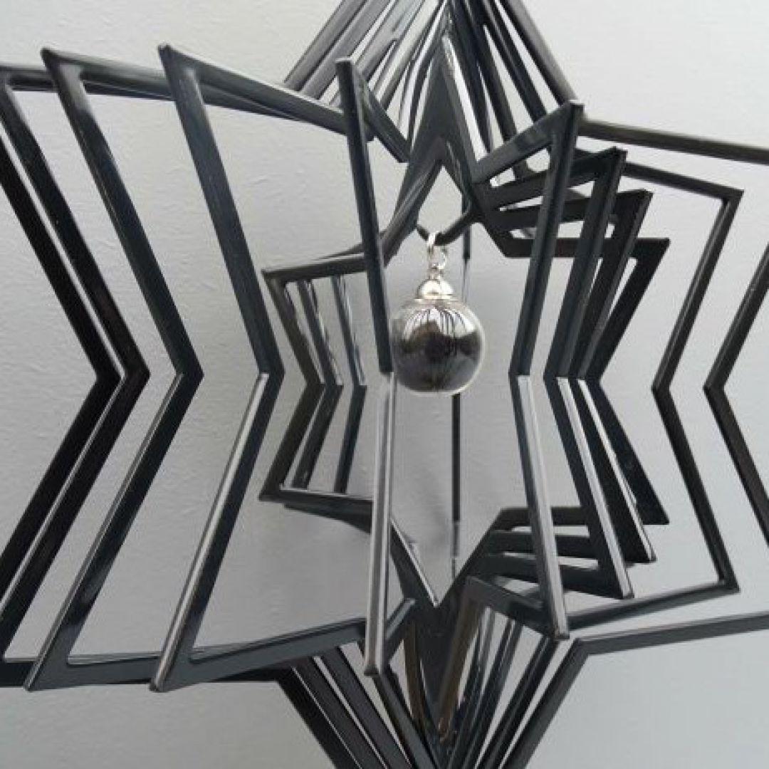 3D urn ster met hanger 718ste00