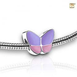 Assieraad vlinderbedel paars/roze BBF001}
