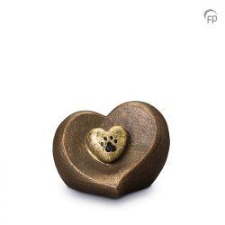 Keramische dieren art urn met bronzen afwerking UGK201}