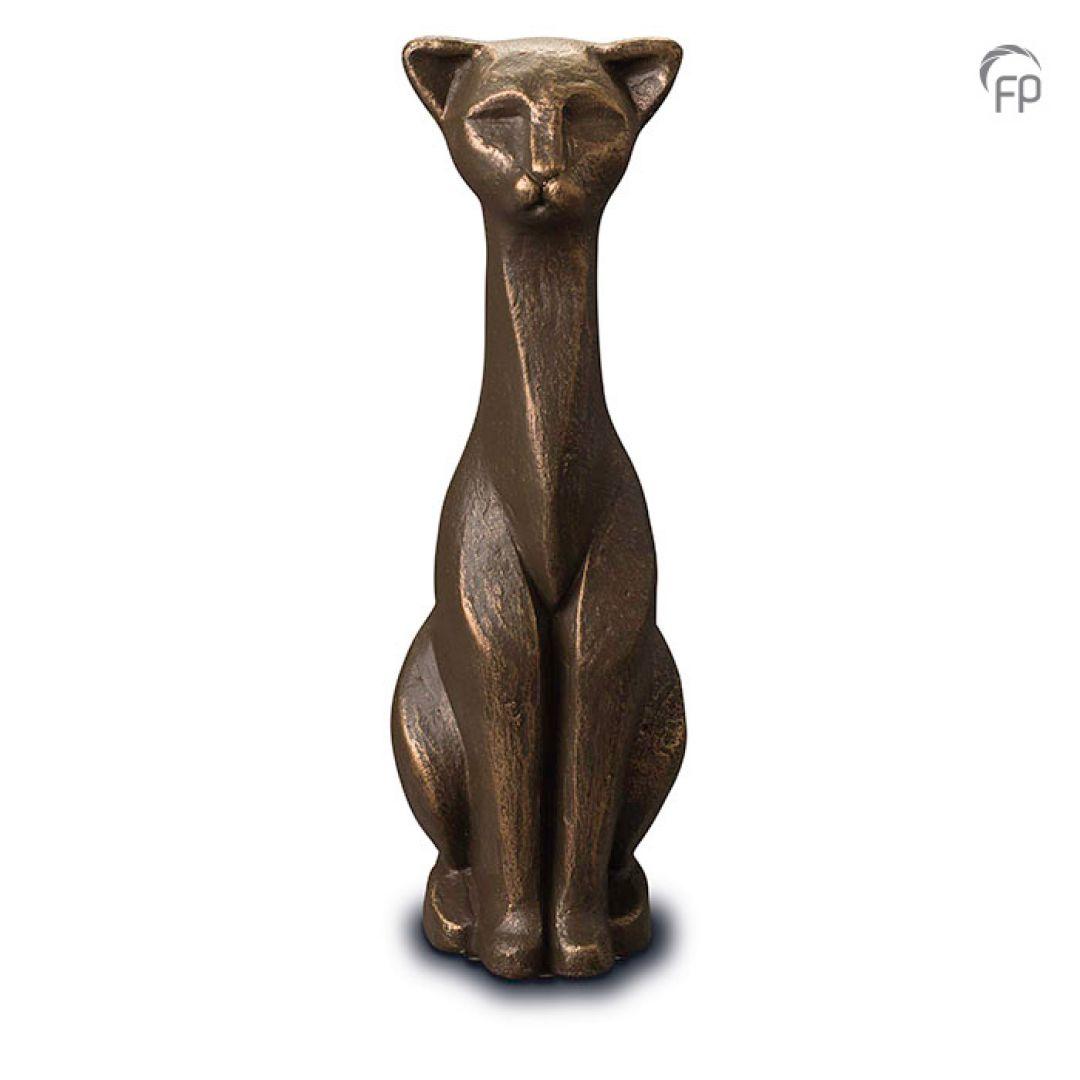 Keramische dieren art urn met bronzen afwerking UGK208