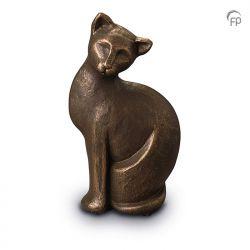 Keramische dieren art urn met bronzen afwerking UGK209}