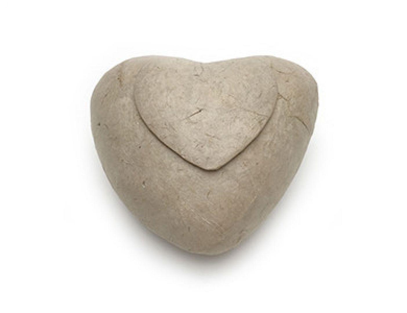 Eco urn keramiek Hart Beige