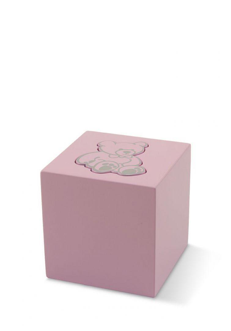 Kinder teddy urn roze TBCMC5501