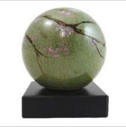 DiBolz Keramische bol urn met decoratie 20cm.}