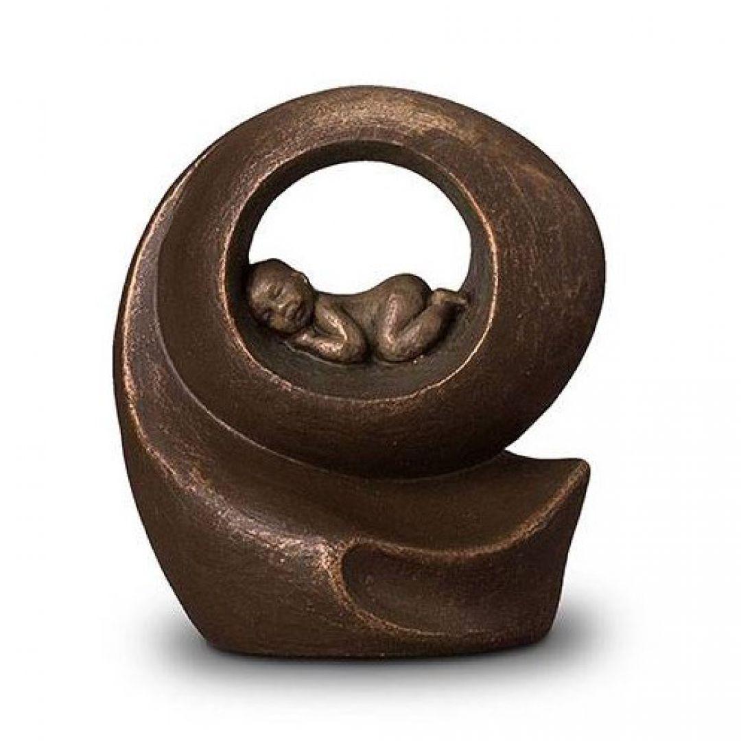 Keramische urn brons Het gemis UGK007A
