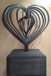 3D urn hart met hanger 717har00}