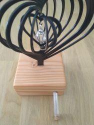 3D urn hart met hanger 717har00