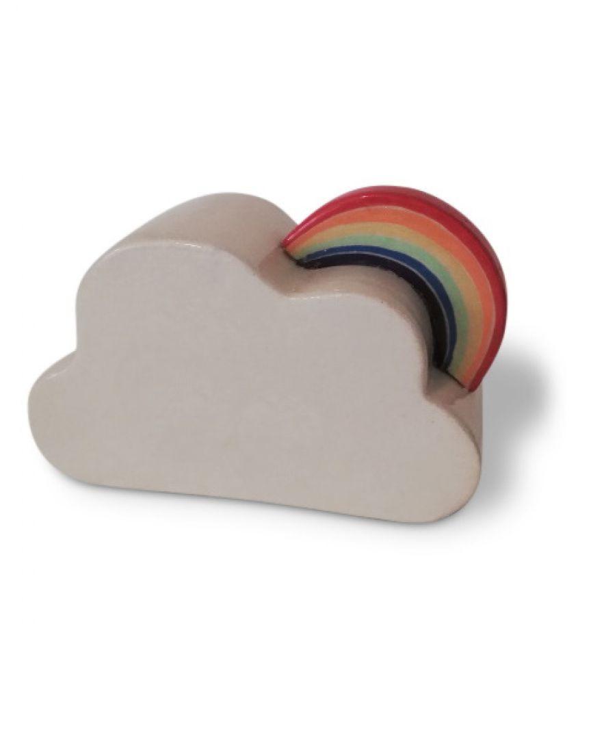 Keramiek prematuur urn wolkje met regenboog PU20-10-1