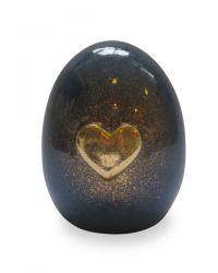 Keramiek urn met gouden hart UV12-1-1}