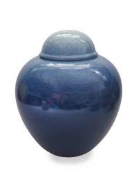Keramiek urn met kleurennevel UV08-11-2b}