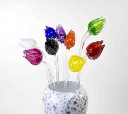 Glazen tulp 1 kleur PH.001}
