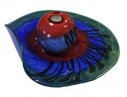 Glazen design waxinelicht PH.701 met glazen schaal PH.702