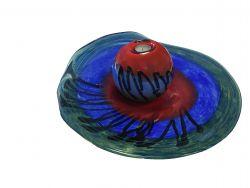 Glazen design waxinelicht PH.701 met glazen schaal PH.702}